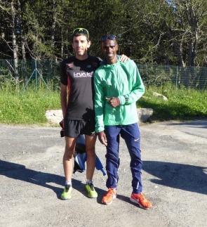 Avec Mo Farah, Font-Romeu - 66