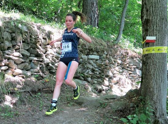 Justine Lanne à sa 1ère sélection